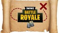 Fortnite - Battle Royale: Schatz und Karte von Dusty Depot finden