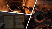 Kingdom Come Deliverance: Rezepte für alle Tränke - Herstellung im Video