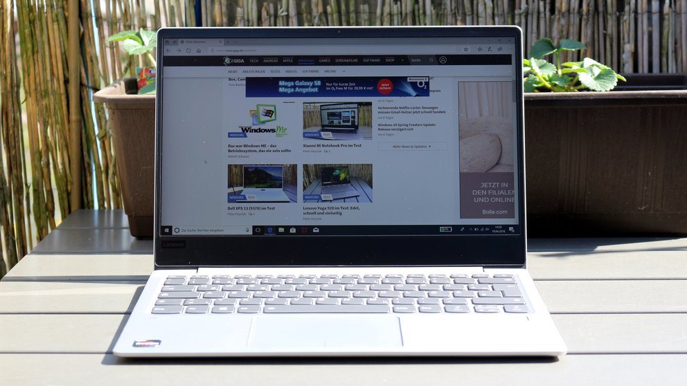 Lenovo IdeaPad 720s im Test: Notebook mit AMDs Ryzen- und Vega-Power