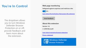 Windows Defender Browser Protection für Chrome