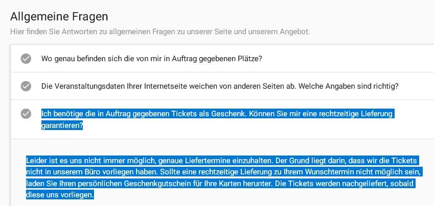 Tickets.De Seriös