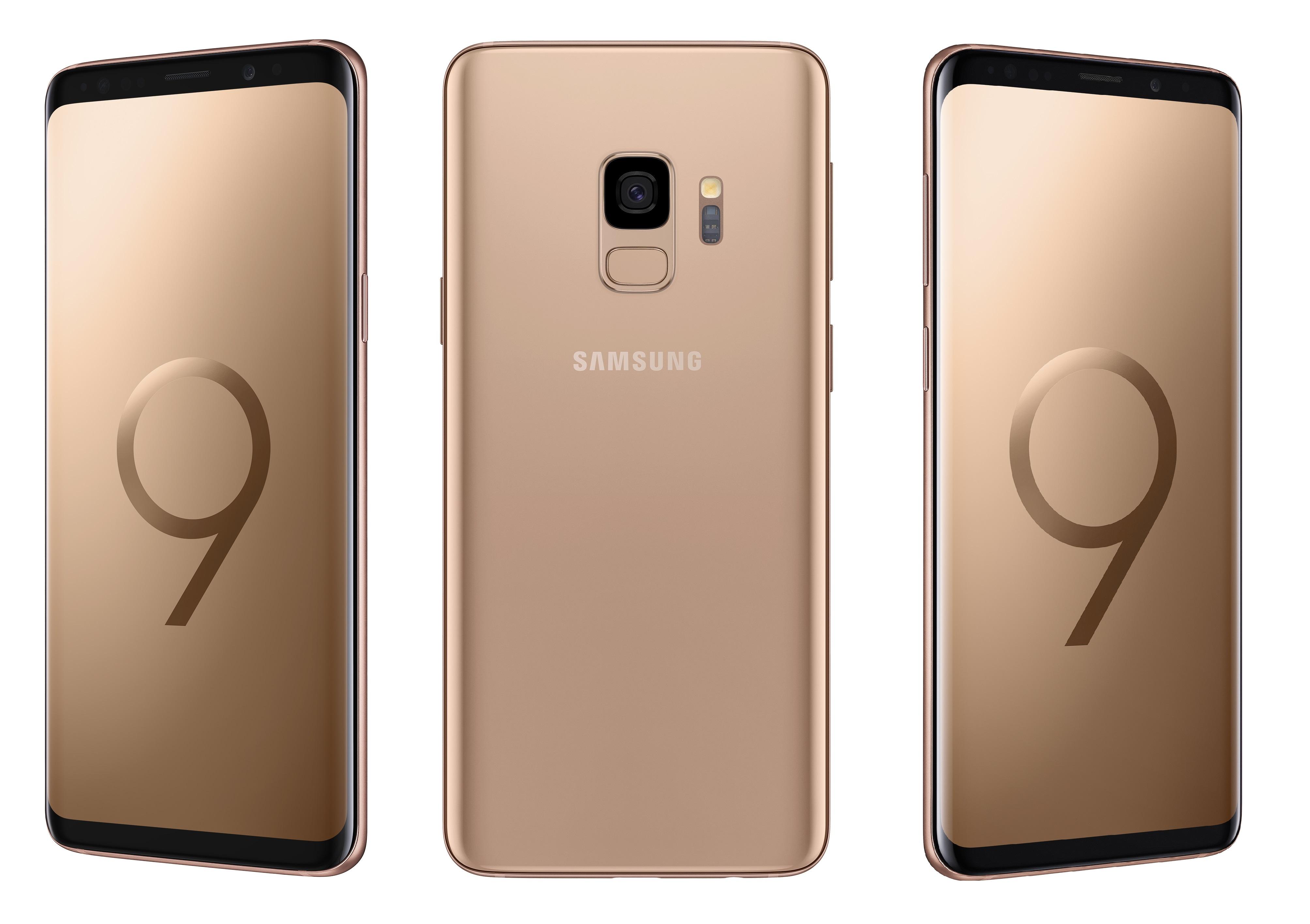 Samsung: Galaxy S9 in Gold und Burgunder-Rot vorgestellt
