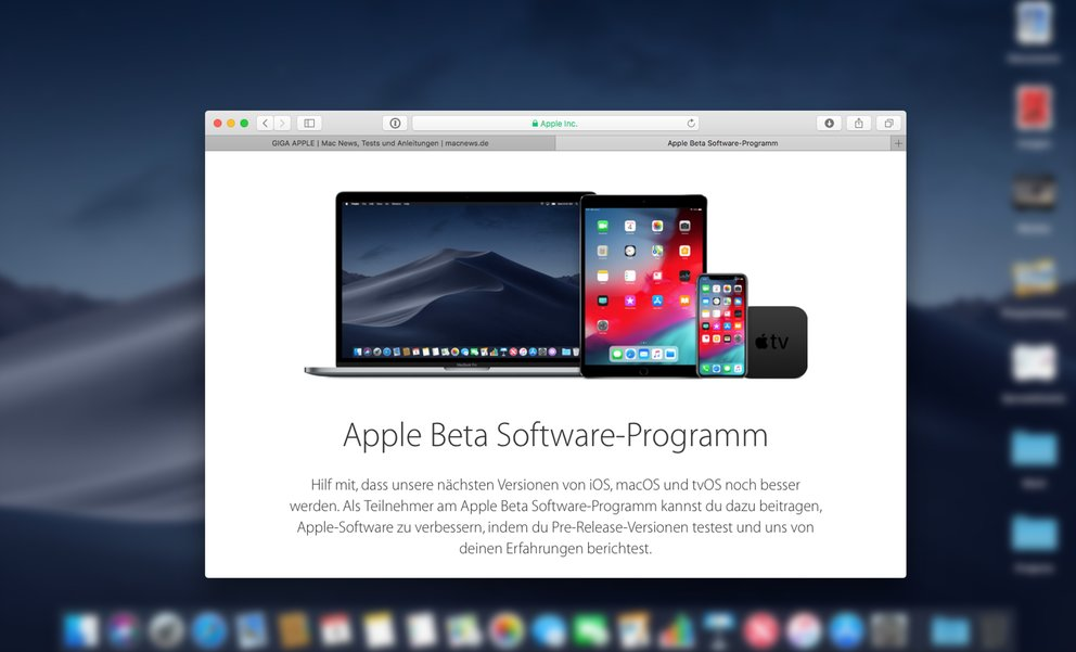 Public Beta von iOS 12 und macOS Mojave: Anmeldung und Installation, so gehts