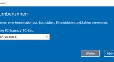 Windows 10: So ändert ihr den Computernamen