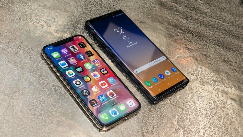 Schlappe für Samsung: iPhone X schlägt das Galaxy Note 9