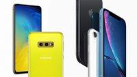 Samsung Galaxy S10e versus iPhone XR: Vergleich und Hands-On-Video