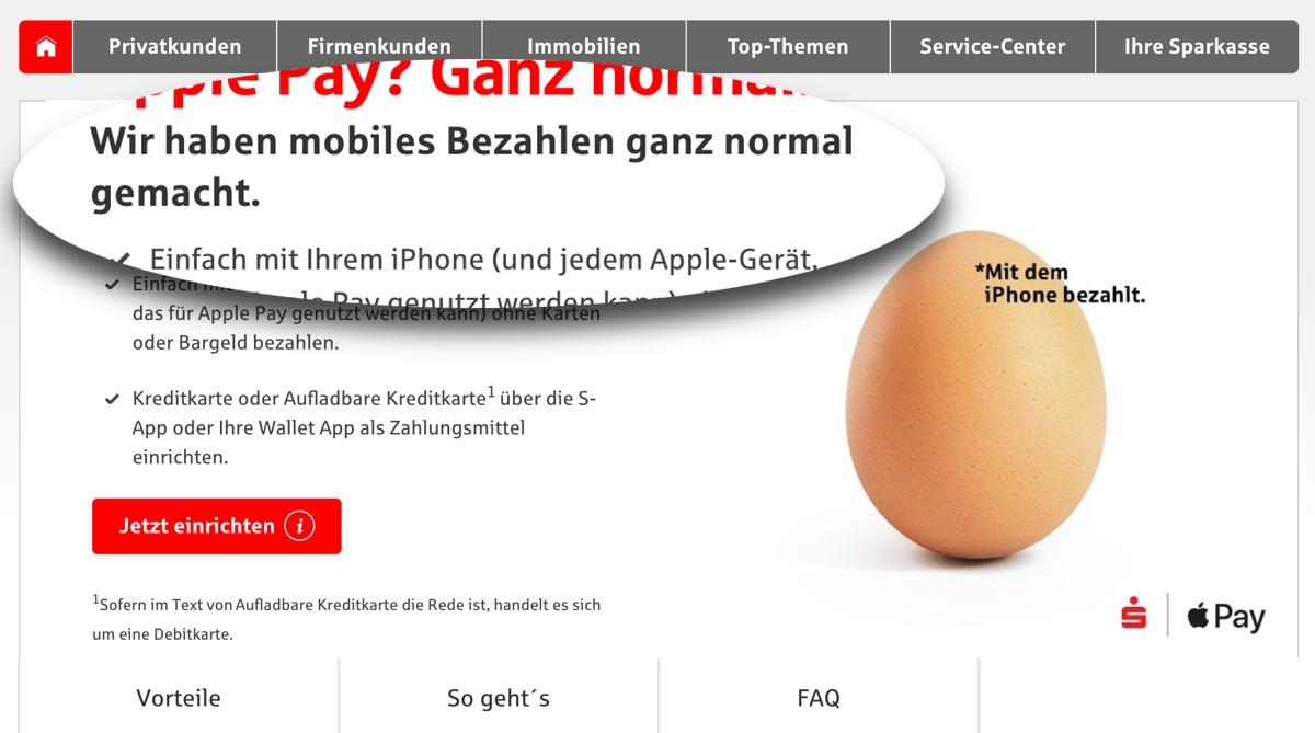 Sparkasse: Über 200.000 Apple Pay Aktivierungen nach einer Woche?