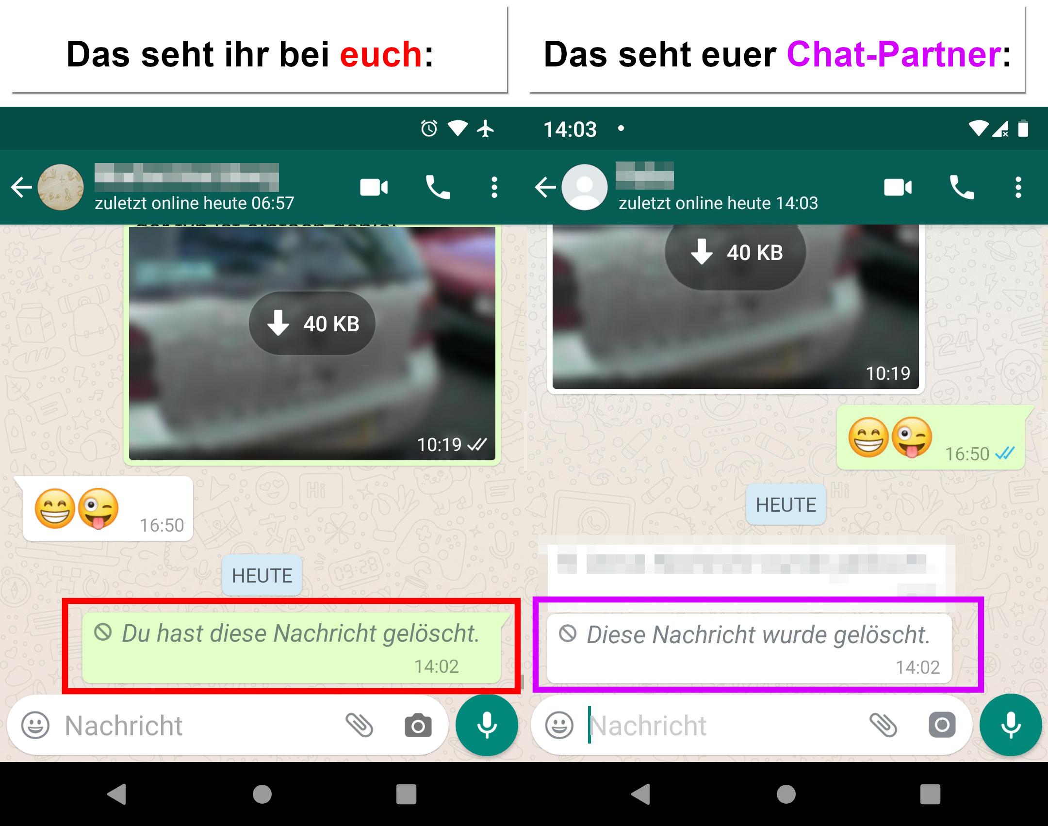 WhatsApp: Sprachnachrichten abhören & nachträglich löschen