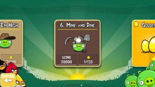 "Angry Birds: ""Mine and Dine""-Level sind da"