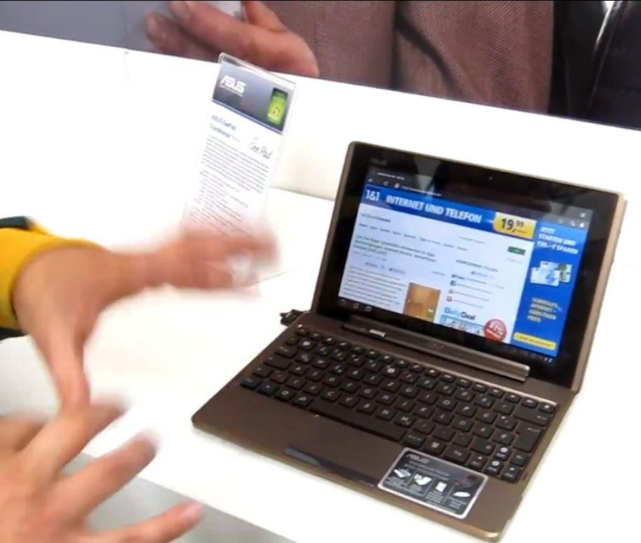 ASUS Eee Pad Transformer: Hands On-Video aus dem Shopping-Center