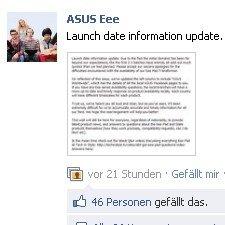 Asus äußert sich zur Verspätung des Eee Pad Transformer