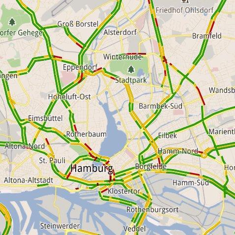 Google Maps: Stauanzeige auch in Deutschland