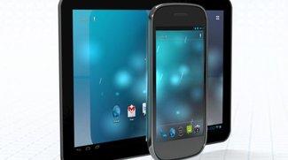 Nexus Tablet: Android-Homepage zeigt Tablet mit Ice Cream Sandwich
