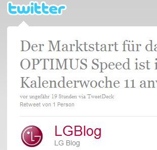 LG Optimus Speed ab Kalenderwoche 11 in Deutschland