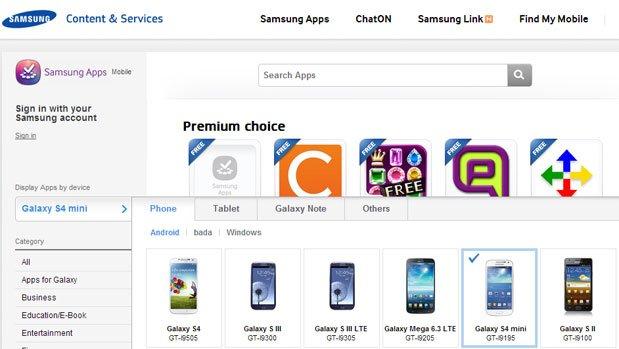 Samsung Galaxy S4 mini, Mega 6.3: In Samsungs App-Store gesichtet