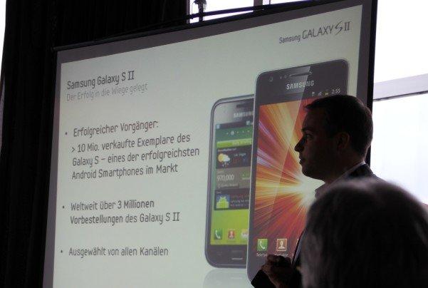 Bilder und Infos vom Samsung Mobile Galaxy S II Launch-Event