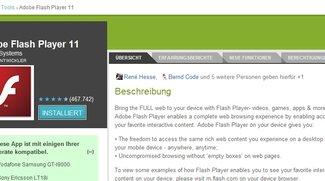 Adobe Flash: Ice Cream Sandwich-kompatible Version veröffentlicht