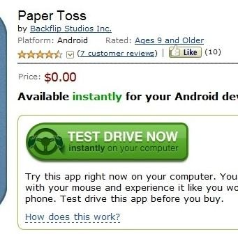 Amazon Appstore: Test Drive-Feature als Alleinstellungsmerkmal?