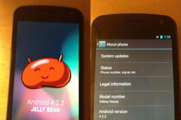 Android 4.2.2: Auf Galaxy Nexus gesichtet, Release im Februar/März
