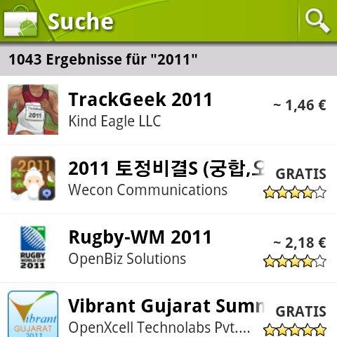 Android Market: App-Verkäufe unbefriedigend, Pläne für 2011