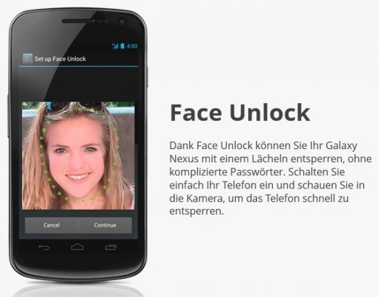 Android 4.0: Face Unlock hat Probleme mit dunkler Hautfarbe