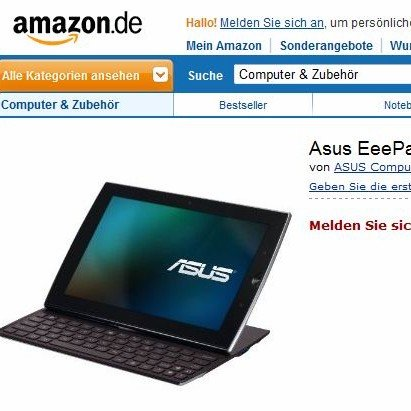 Asus Eee Pad Slider schon bei Amazon gelistet