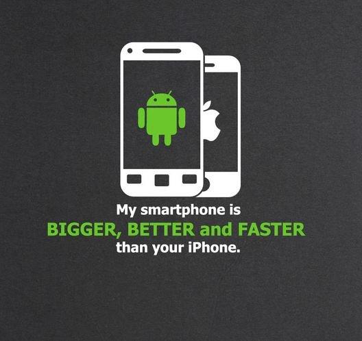 Mein Smartphone ist besser! T-Shirt für Android-Fans
