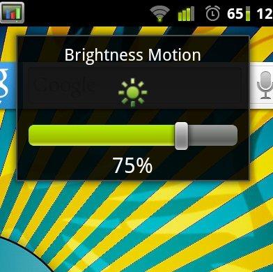 Brightness Motion: Bildschirmhelligkeit per Handybewegung ändern
