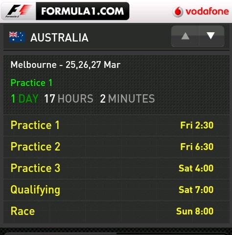 Offizielle Formel 1-App für Android ist da