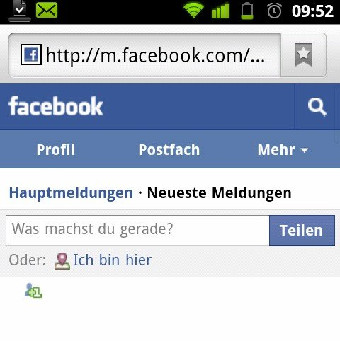 Facebook mit neuer mobiler Website