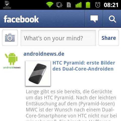 Facebook für Android auf Version 1.5.2 aktualisiert [UPDATE]