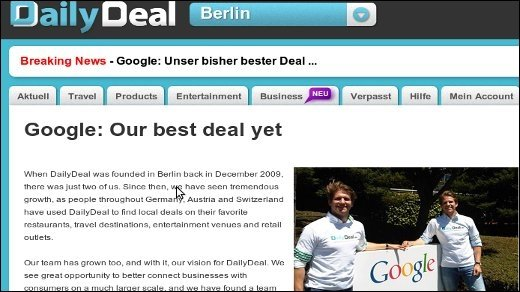 Akquisition - Google übernimmt Daily Deal