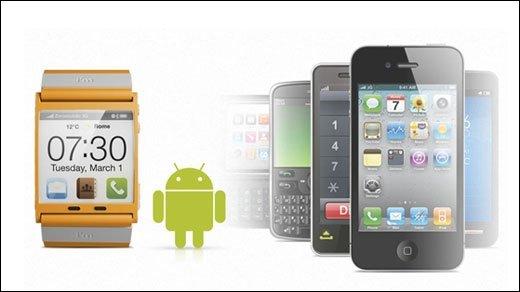 Android OS - WIMM zeigt Armbanduhr mit Googles mobilen Betriebssystem