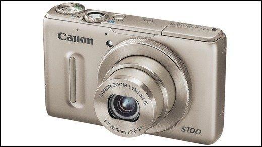 Canon PowerShot S100 - Highend-Kompaktknipse mit konfigurierbarem Objektivring