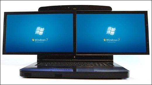 Desktop-Ersatz - gScreen Spacebook mit innovativem FullHD Doppel-Display