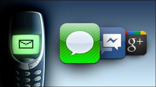 Facebook Messenger, iMessage, Google+ - Der Angriff auf die Telkos: Kurznachrichtendienste lösen die SMS ab