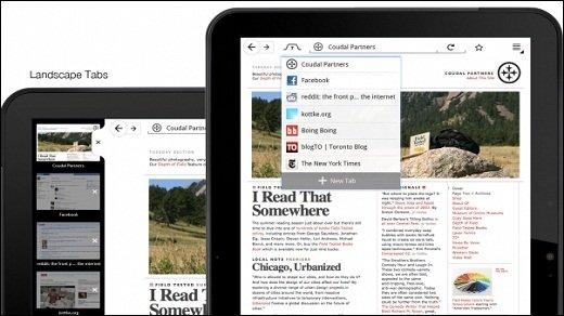 Firefox - Angepasste Oberfläche für Tablets vorgestellt