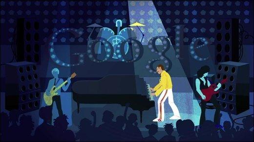 Google Doodle - Happy Birthday Freddie Mercury