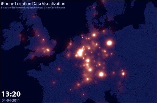 iPhone Location Tracking  - Video visualisiert die Daten des Ortungsdienstes