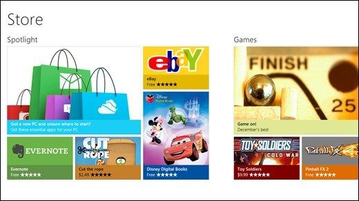 Microsoft - Windows Store für Windows 8 vorgestellt