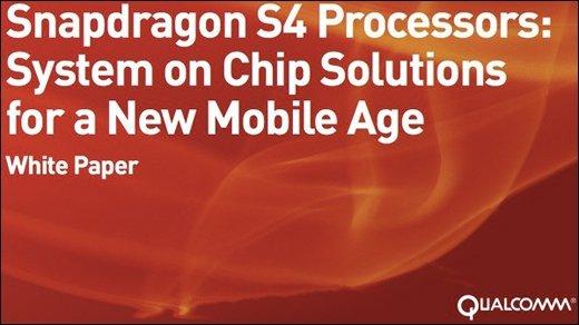 Qualcomm Snapdragon S4 - Erste Details zu den kommenden Dual-Core-Prozessoren