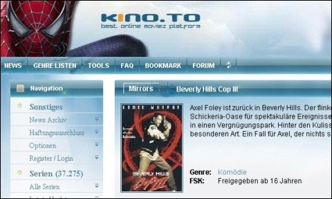 Razzia bei kino.to - Raubkopie-Portal geschlossen - 13 Personen verhaftet