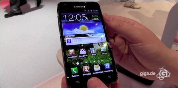 Samsung - Hands-On mit dem Galaxy S2 LTE