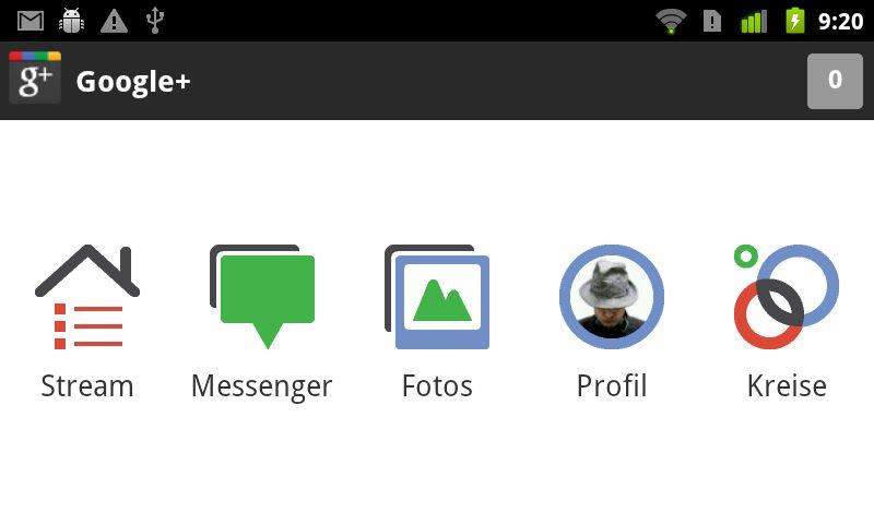 Google+: Android-App erfährt kosmetisches Update