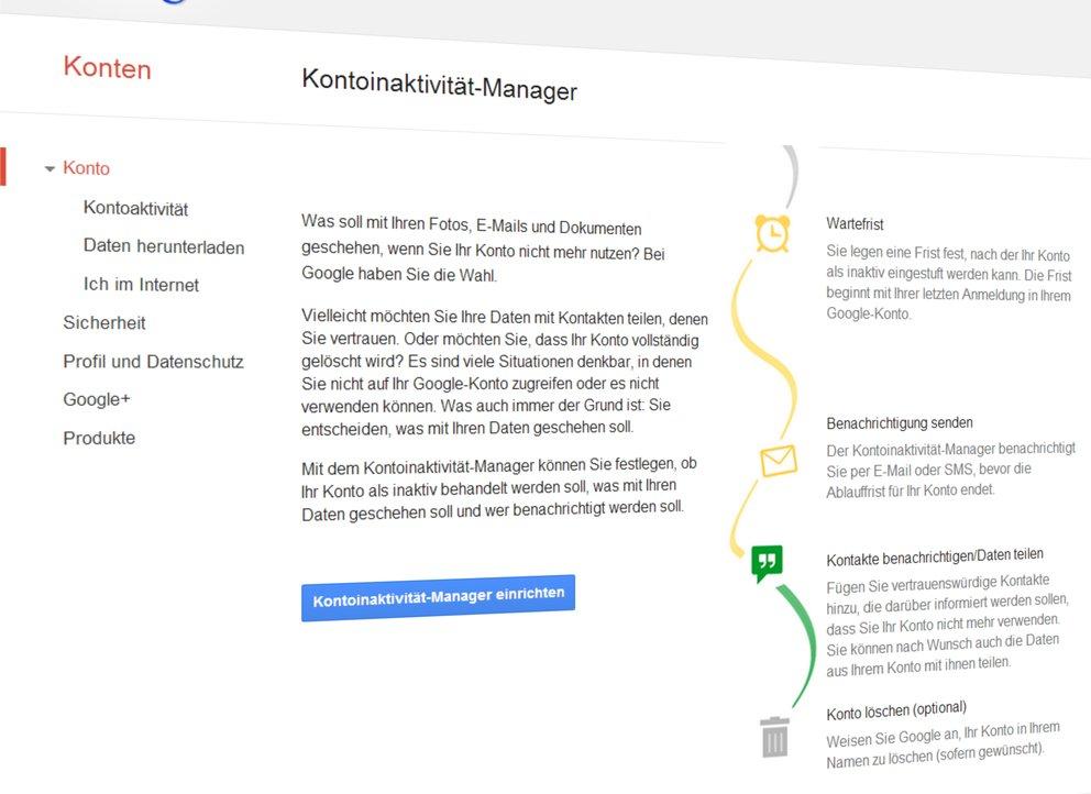 Google-Account: Daten-Weitergabe nach dem eigenen Tod möglich