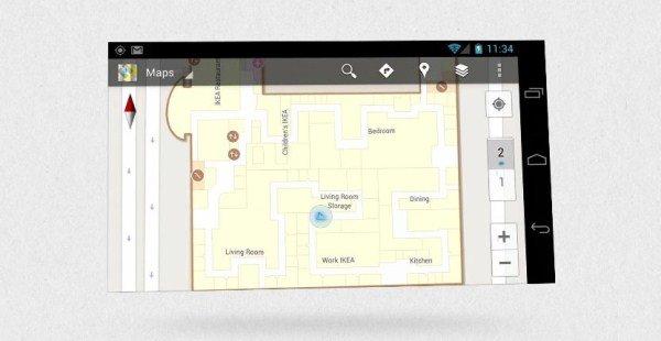 Innen-Navigation für Google Maps