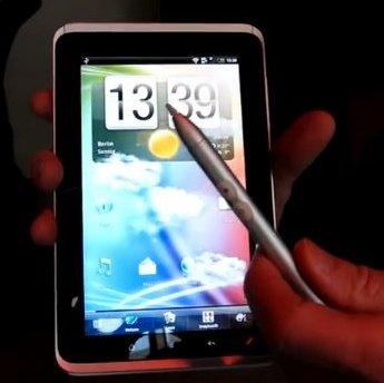 HTC Flyer: Hands-on Video zum 7 Zoll-Tablet