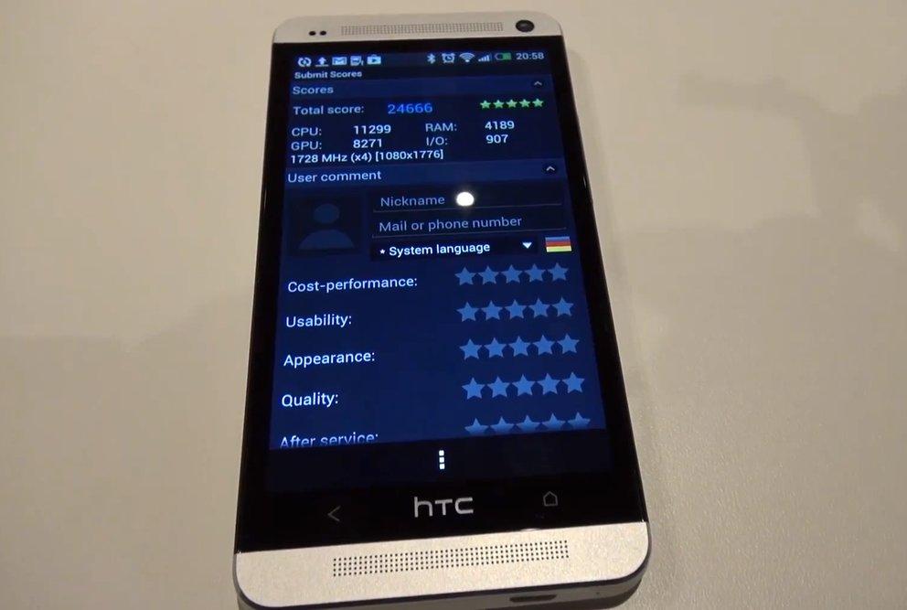 HTC One: Benchmarks im Video, Test-Bilder und -Video der Kamera