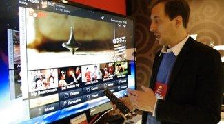 """Lenovo IdeaTV K91: Fernseher mit Android 4.0 """"Ice Cream Sandwich"""" im Hands-On [CES 2012]"""