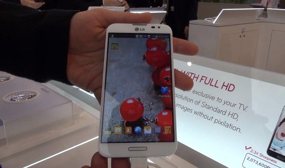 LG Optimus G Pro: Hands-On mit dem Flaggschiff-Upgrade [MWC 2013]
